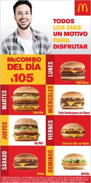 Mc Donalds - Combo del Dia - Noviembre - 300x600
